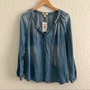 Vintage America Chambray Top